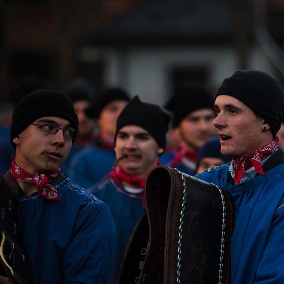 Marc Berthod am Sächsi Schällätä in Klosters